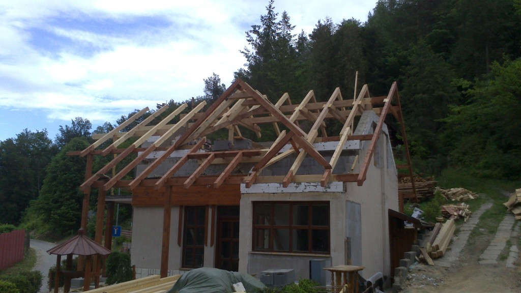 výstavba chata Domaša